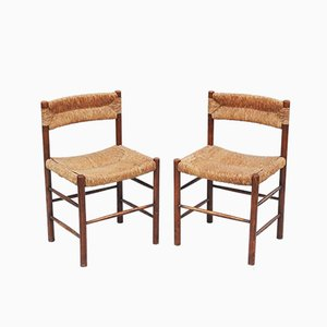 French Dordogne Chairs by Charlotte Perriand for Sentou, 1960s, Set of 2
