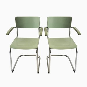 S43 F Armchairs by Mart Stam for Thonet, 1980s, Set of 2