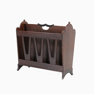 Art Deco Oak Amsterdam School Magazine Rack by Willem Penaat for Metz & Co, 1920s