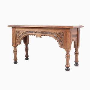 Small Dutch Neo-Renaissance Style Oak Bench or Side Table, 1950s