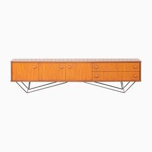 Mid-Century Minimalist Long Sideboard, 1960s