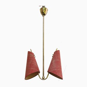 Austrian Brass Ceiling Lamp, 1950s