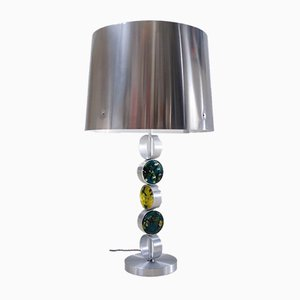 Dutch Aluminium, Steel & Glass Table Lamp by Nanny Still for Raak, 1972