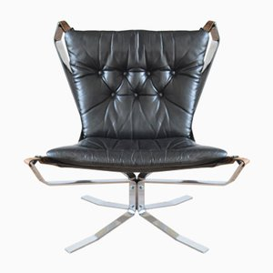 Danish Chrome Low Back Falcon Chair, 1970s