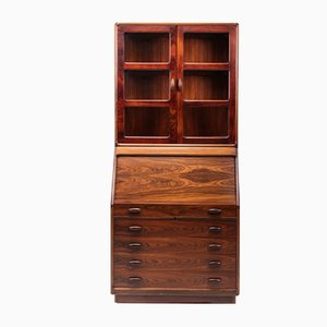 Rosewood Secretaire with Display Case from Dyrlund, 1960s