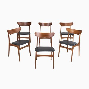 Dining Chairs by Schiønning & Elgaard for Randers Møbelfabrik, 1960s, Set of 6