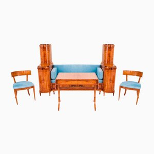 Empire Style Living Room Set, 1850s, Set of 4