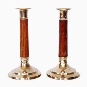 Art Deco Candleholders, 1930s, Set of 2
