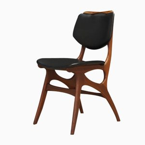 Mid-Century Danish Fabric and Teak Dining Chairs, 1960s, Set of 2