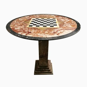 Mid-Century Italian Multi-Colored Marble Game Table, 1960s