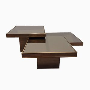 Coffee Tables by Willy Rizzo, Italy, 1970s, Set of 3