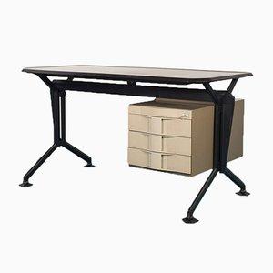 Tavolo da scrivania in metallo di BBPR per Olivetti, 1963