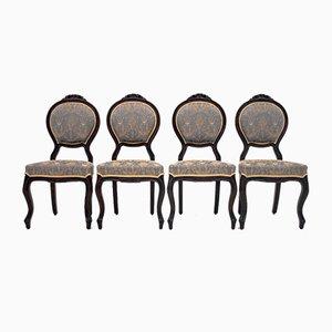 Antike neoklassizistische Esszimmerstühle, 4er Set
