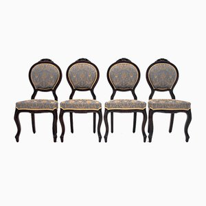 Antique Neoclassical Dining Chairs, Set of 4