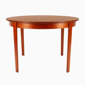 Danish Round Teak Extendable Dining Table, 1960s