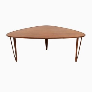 Danish Triangular Teak Coffee Table from BC Møbler, 1950s