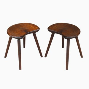 Mid-Century Danish Birch Stools, 1950s, Set of 2