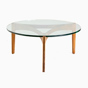 Rosewood Base Coffee Table by Sven Ellekaer for Christian Linneberg, 1960s