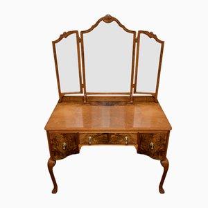 Burr Walnut Queen Anne Dressing Table, 1920s