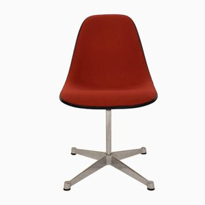Mid-Century Padded Red Side or Pedestal Chair by Charles & Ray Eames for Vitra & Herman Miller, 1970s