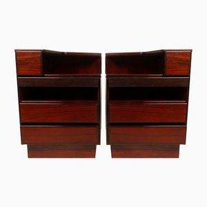 Vintage Danish Rosewood Nightstands from Scan Coll, 1970s, Set of 2