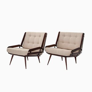 Jacaranda Lounge Chairs by Carlo Hauner for Mobilinea, 1956, Set of 2
