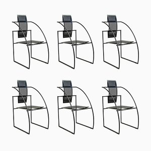 Quinta Dining Chairs by Mario Botta for Alias, 1980s, Set of 6