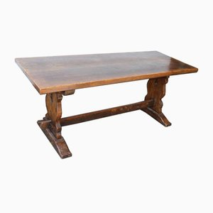 Antique Slim Oak Refectory Table, 1900s