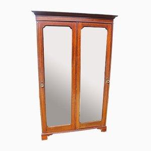 Mahogany Mirrored 2-Door Wardrobe, 1920s