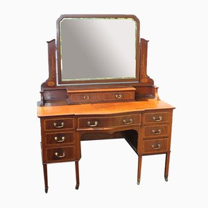 Mahogany Dressing Table with Inlay, 1930s