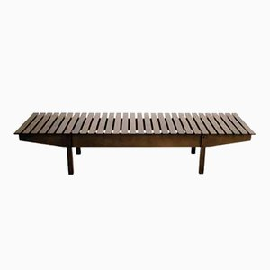 Imbuia Wooden Bench by Sergio Rodrigues for Linbrazil