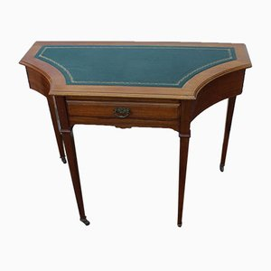 Small Antique Edwardian Mahogany Desk with Unusual Sides
