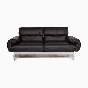 Plura Black Leather 2-Seat Sofa with Relax Function from Rolf Benz