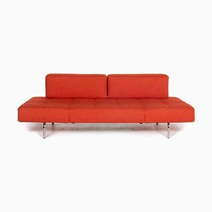 Orange Fabric Jerry 3-Seat Sofa with Relax Function from Brühl & Sippold