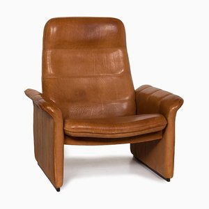 Cognac Leather DS 50 Armchair with Relax Function from de Sede