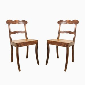 19th Century Swedish Wooden Chairs, Set of 2