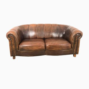 Vintage Sheep Leather 2-Seat Sofa by Joris