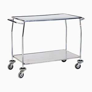 Vintage Stainless Steel Trolley, 1970s