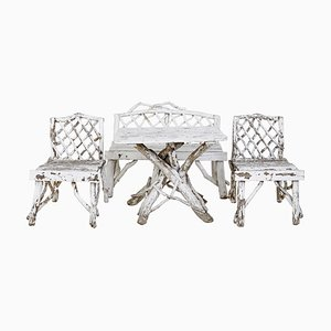 Late 19th Century Bentwood Garden Furniture, Set of 4