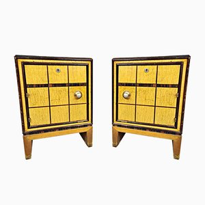 Italian Art Deco Nightstands, 1930s, Set of 2