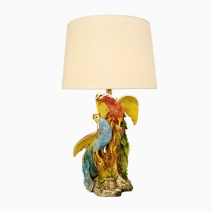 Birds Ceramic Table Lamp, 1970s