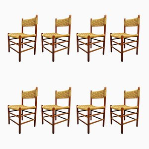 Mid-Century Italian Rope Chairs, Set of 8