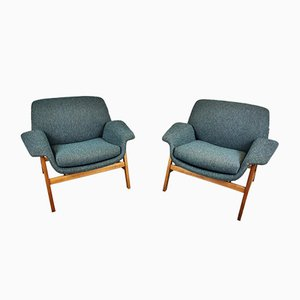 Armchairs by Gianfranco Frattini, Italy, 1960s, Set of 2