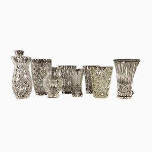 Antike Böhmische Bleikristall Vasen, 10er Set