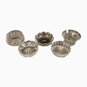 Antike Kristallschalen, 5er Set