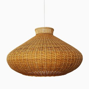 Large Wicker Pendant Lamp, 1960s