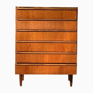 Danish Teak Highboy Dresser, 1960s