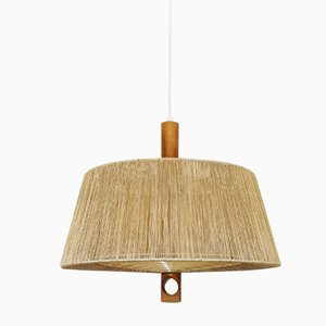 Raffia Pendant Lamp from Temde, 1960s