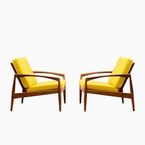 Teak Paper Knife Chairs von Kai Kristiansen für Magnus Olesen, 1958, 2er Set