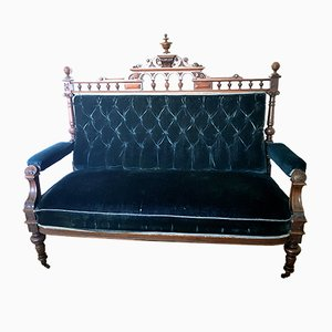 Antique Historicism Sofa with Carved Top